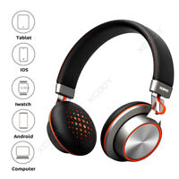 Bluetooth Wireless Headphones Bass Over Ear Headset Earphones with Microphone