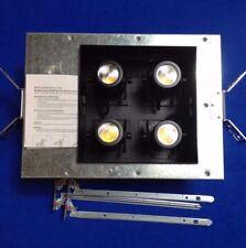 "WAC Lighting Precision Multiples 3000K 4"" LED 2X2 Housing, MT-4LD226NES30-BK"