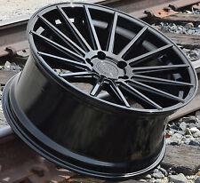 "21"" Road Force RF15 Wheels Mercedes Benz S400 S550 S600 S63 Gloss Black Rims Set"