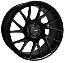 18x8.5 Enkei Rims TM7 5x114.3 +25 Black Rims Fits Veloster Mazda Speed 3