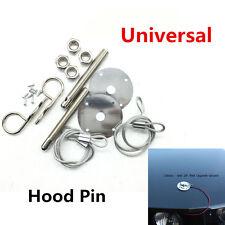 "Muscle Car 3/16"" Hair Pin Style Hood Pin Engine Lock Set w/ Lanyards 1/2"" Studs"