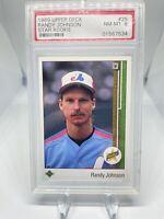 1989 Upper Deck Randy Johnson #25 PSA 8 Hall Of Fame HOF Montreal Expos 🔥