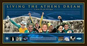 LIVING THE ATHENS DREAM 2004 LTD EDITION FRAMED PRINT OF AUSTRALIAN OLYMPIC TEAM