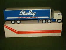 1973 WINROSS TOY TRUCK - BLUE BOY VEGETABLES AND FRUITS in BOX, C-9 COND.
