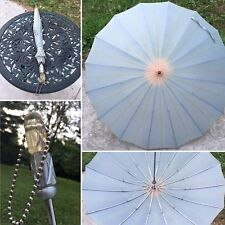 Vintage Umbrella Parasol Apple Juice Lucite Silver Handle ☔️ With Chain By Kane