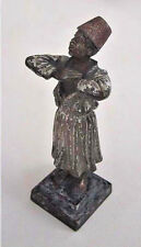 Antique AUSTRIAN BRONZE FIGURINE - ARAB BOY  (Enamel & Bronze Statue)      (3G7)
