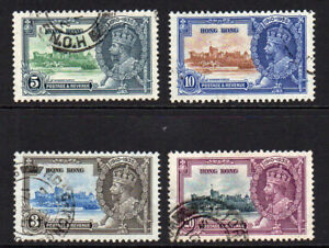 Hong Kong 1935 Silver Jubilee set of Used Stamps