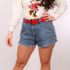 80s 90s vintage Lee Jeans hotpant cut off shorts 32""
