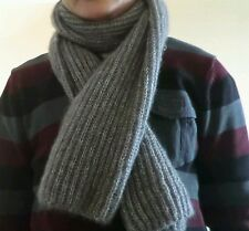 hand-knitted mohair scarf(dark gray)