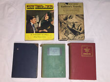 Lot of 5 Vintage Books - Novels, Gone With The Wind, Gulliver's Travels 1927-48