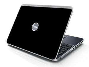 BLACK Vinyl Lid Skin Cover Decal fits Dell Inspiron 15R N5010 Laptop