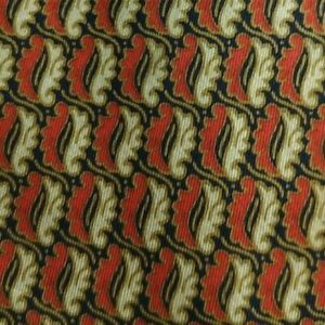 Red Beige Foulard DIOR Silk Tie