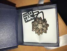 Le Vian Diamond Flower Ring chocolate white diamonds 2.12ct NWT yellow gold sz 6