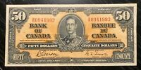1937 $50 BANK OF CANADA B/H - V.F+ Cond!