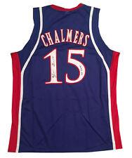 Mario Chalmers Kansas Autographed Signed Basketball Jersey 08 CHAMPS JSA COA