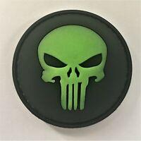 PVC Punisher Glow in Dark Patch Hook & Loop SEAL MARSOC SF Green Beret 190