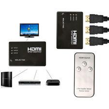 3 Ports Entrée à 1 Sortie 1080P Vidéo HDMI Commutateur Télécommande IR
