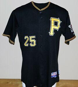 2009 Adam LaRoche Game Worn Pittsburgh Pirates ALT Jersey #25 - Size 46