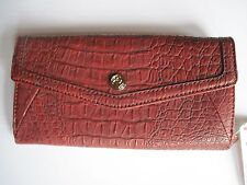 f952184545 Relic Dearborn Flap Checkbook Clutch Wallet Red Crock