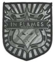 IN FLAMES shield 2006 - WOVEN SEW ON PATCH - official merch - no longer made