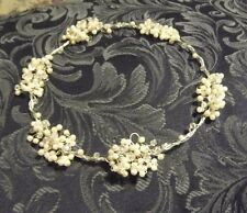CRYSTAL PEARL WIRE CIRCLET, WREATH HEADPIECE, IVORY,WHITE,GOLD,SILVERCOLOUR,AUST