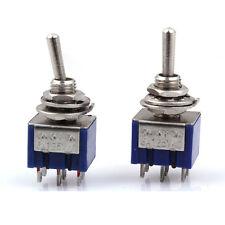 2pcs TGB3 Electirc 3-Position Toggle Switch 6pin AC 125V Double Pole Three Throw