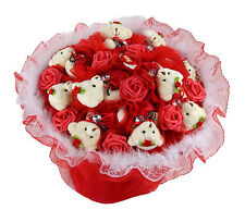 Eleven Bears with Eleven Roses Bear Bouquet Gift Red