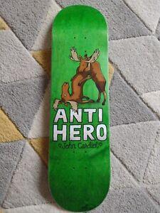 Anti Hero John Cardiel Skateboard Green Stain Free Grip