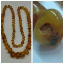 Amber Necklace Amber Amber Ambre Necklace Chain L 70 cm