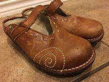 El Naturalista Women's Yggdrasil 7 37 Natural Brown Leath Frog Mules Clogs Shoes