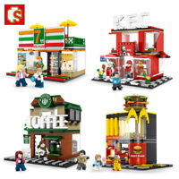 City Mini Street Scene Retail Store Miniature Legos Compatible Building Blocks