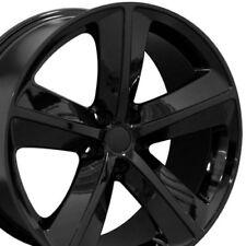 """20"""" Black Wheels Fits Dodge Charger SRT8 Magnum Challenger Chrysler 300 20x9"""
