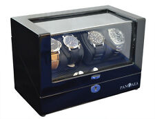 Pangaea Q350 Quad Four Watch Winder LED Lights Lock & Key Battery or AC Powered
