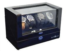 Pangaea Q350 Quad Four Watch Winder LED Lights Lock & Key Battery or AC Powered