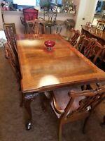 Thomasville Mahogany Dining Table seats 8