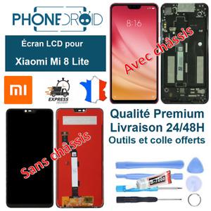 Écran complet LCD + tactile Xiaomi Mi 8 Lite + Outils, colle, stock FR