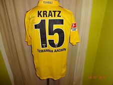 Alemannia Aachen nike matchworn camiseta 2010/11 + nº 15 pica + autografiada talla L