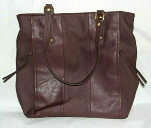 Relic by Fossil Noelle Shoulder Purse, Tote, Purple/Plum Faux Leather Patchwork
