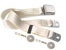 Mustang Seat Belt Lap Belt Style Each 64 1965 66 67 68 69 70 71 72 73 White