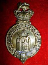 """Victorian """"Queen's Own Light Infantry"""" Restrike Glengarry Cap Badge"""