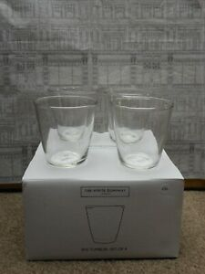 The White Company London Rye Tumbler Set Of 4 New in The Box