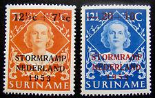SUR NVPH 295 - 296 Stormrampzegels 1953 zeer fraai postfris CW 8,-