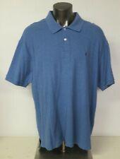 Mens Nautica Polo Shirt Size 3X Blue Cotton Short Sleeve Casual True Deck Shirt