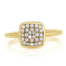 Pave Diamond Stackable Ring in 18K Yellow Gold | FJ