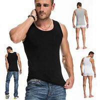 Men GYM Tank Tee Bodybuilding T-Shirt Muscle Sleeveless Shirt Sport Fitness Vest