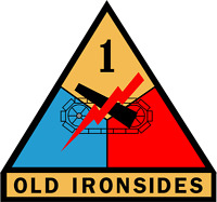 """Army 1st Armored Division 5.5"""" Sticker"""