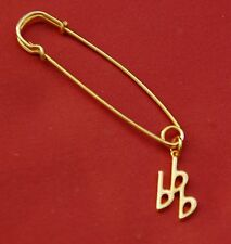 3 Flat/Eb Music Note Gold Pin Badge, New
