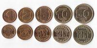 YUGOSLAVIA - FIRST ISSUE 5 DIF UNC COINS SET: 1 - 50 DINARA 1992 YEAR KM#149-53