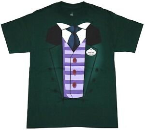 NEW Disney Parks Haunted Mansion Green Ghost Host Men's Costume T-Shirt M-3XL