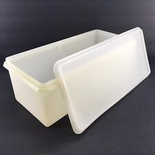 Tupperware Vintage Jumbo Bread Server Keeper Container Large #606 #607
